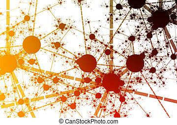 Network Paint Splatter - Color Network Paint Splatter...