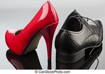high heels and mens shoe - ladies shoes and mens shoes,...