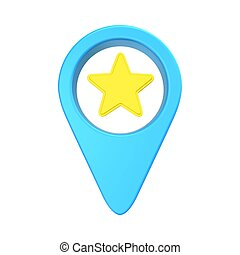 pointer location with an asterisk, symbolizing the chosen...