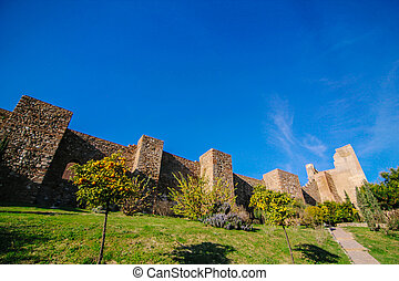 The Alcazaba is a palatial fortification in Mlaga, Spain It...