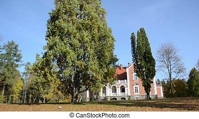 sesuoleliai manor autumn - Sesuoleliai mansion estate manor...