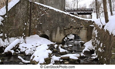 retro mill brook winter