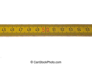 Wooden meter isolated on white background