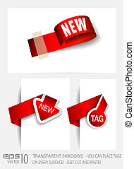 Original Style Paper Tags with TRANSPARENT shadows. Ready to...