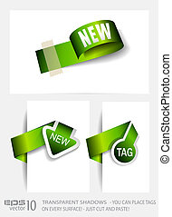 Original Style Green Eco Paper Tags with TRANSPARENT...
