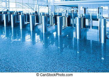 Security checkpoint - The security checkpoint at the airport
