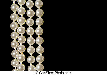 Pearls - A hanging string of beautiful oyster pearls