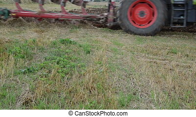 tractor plough wheel - follow tractor machine plough...