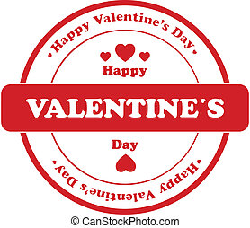 Valentine Day Stamp Isolated On White