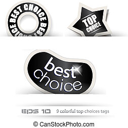 Paper Style BEST CHOICE tags