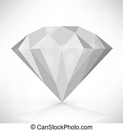Diamond isolated on white vector illustration