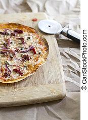 Mediterranian Tortilla Pizza - A flatbread tortilla pizza...