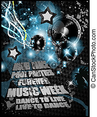 Alternative Discoteque Music Flyer for Miami night clubs and...