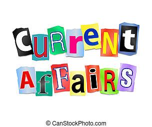 Current affairs concept - Illustration dep