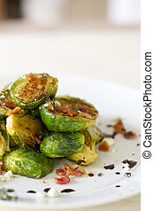 Carmelized Brussel Sprouts - Carmelized brussel sprouts with...