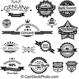 Premium Quality Labels - Collection of retro bi-colours...