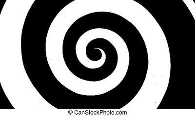 Spiral - A rotating spiral.