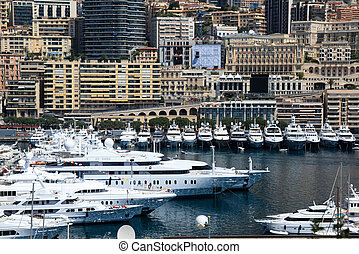 Yachts at Cannes port, French riviera, France