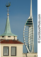 Spinnaker Tower, Portsmouth - Spinnaker From Old portmsouth
