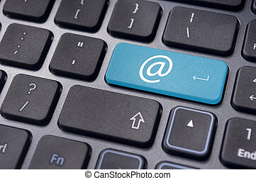 at sign on keyboard enter key, for email concepts.