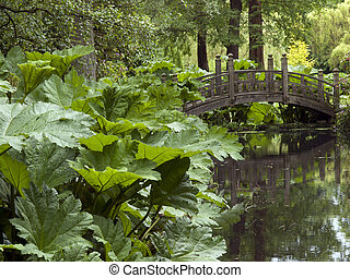 Garden Bridge - Garden bridge over water