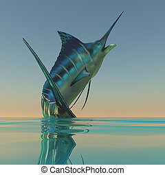 Marlin Sport Fish - The Blue Marlin is a beautiful predatory...