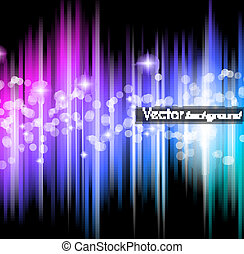 Abstract futuristic background with striped lights and a...