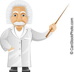 Einstein - Cartoon Character Einstein Isolated on White...