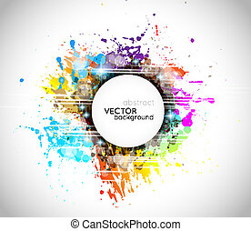 Colorful abstract background with rainbow colors and a white...