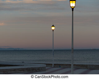 Nightfall at Valencia 1 - A beautiful dawn at valencia, with...