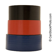 Isolated Three Roles of Gaffer Tape - Three rolls of gaffer...