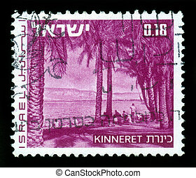 landscapes of Israel - lake Kinneret Sea of Galilee - ISRAEL...