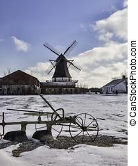 Damgaard windmill near Aabenraa in Denmark