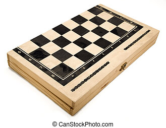 Isolated Backgammon Box - Closed - also Checkers box and...