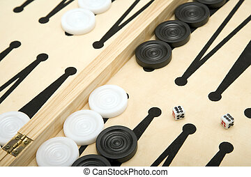 Backgammon - Part of a Backgammon set + Dice.