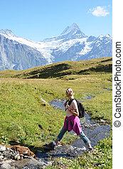 Trekking in the Swiss Alps