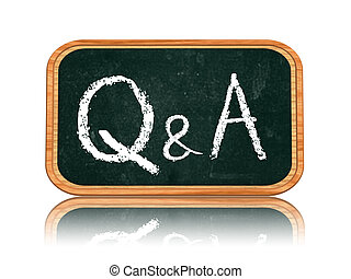 Q and A - questions and answers on blackboard banner - QA -...