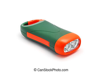 dynamo flashlight on white background