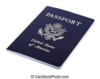 Isolated American Passport - A USA passport Isolated on...