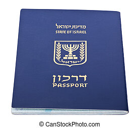 Isolated Israeli Passport - Israeli passport isolated on...