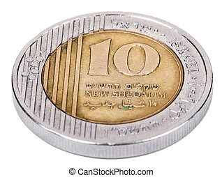Isolated 10 Shekels - Tails High Angle
