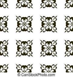 Seamless pattern. - Pattern of arabesques in the form of a...