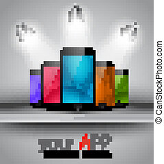 Background or cover for your smartphone app - Stylish...