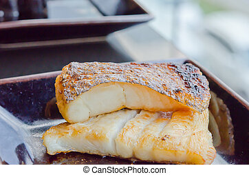 fish dish - Japanese grilled cod fish ( gindara )