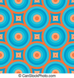 Retro Wallpaper Seamless Pattern - Geometric Vintage Retro...