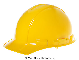 Isolated Hard Hat - 45° Yellow - 45° view of a yellow hard...