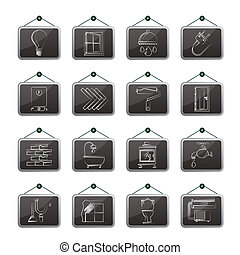 Construction and home icons