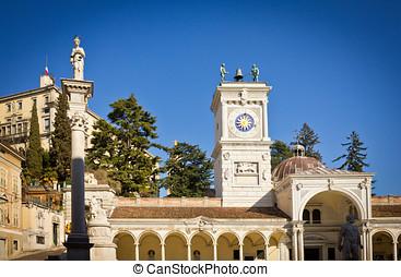 Udine castle in summer - the castle of Udine taken from...