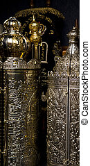 Torah Scrolls Containers - Several Torah (old testament)...