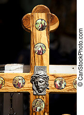 Jesus on a Cross - Part of a cross depicting Jesus Christ...
